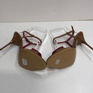 Just Cavalli Shoes - Just Cavalli Made in Italy Tan HighHeel wPinkTrim